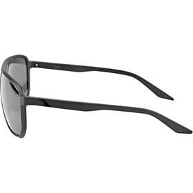 100% Konnor Aviator Square Lunettes, matte black/black mirror